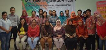 Foto bersama peserta FGD Kewirausahaan perempuan di kawasan rawan bencana