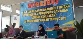 Workshop Kajian Akademis Perlindungan Perempuan dan Anak Korban Kekerasan di Kabupaten Sleman
